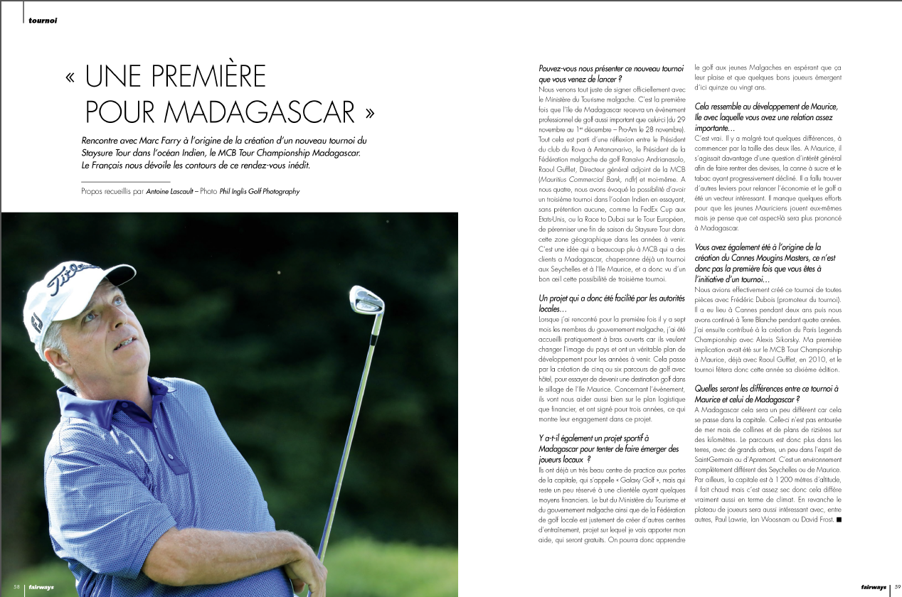 Une première pour Madagascar – Fairways Magazine octobre 2019
